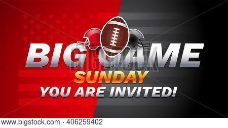 Super Bowl Invitation Sunday Championship - Red And Gray Super Bowl Teams Helmets On Red Gray Backgr