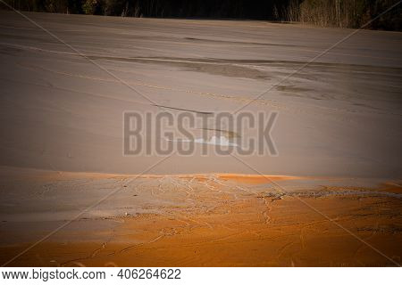Highly Polluted Lake With Cyanide In Geamana, Romania