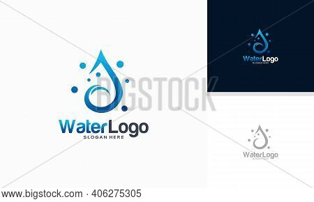 Clean Water Logo Designs Concept Vector, Cleaning Logo Template, Plumbing Logo Designs