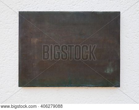 Blank Bronze Metal Plaque With Copy Space