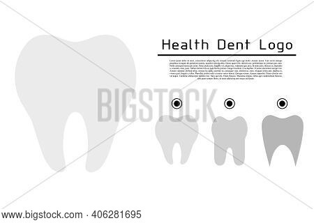 Dental Clinic Emblem. Teeth Icon. Dentist's Guide. Oral Hygiene. Vector Icon Illustration.