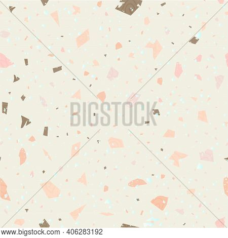 Terrazzo Seamless Pattern. Gentle Classic Flooring
