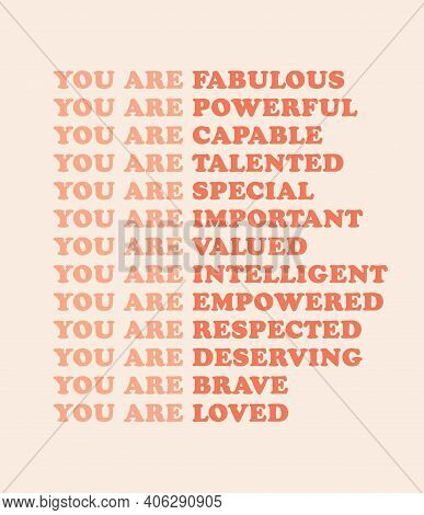 Feminist Wall Art Poster Print, Girl Power Graphic Design, Woman Motivational Words, Nursery Girl's
