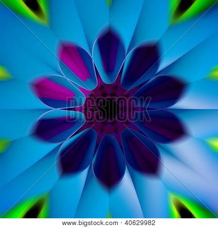 3D Colorful Fractal Background