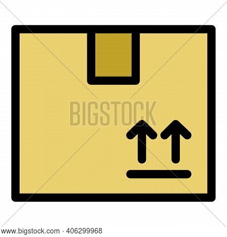 Send Parcel Icon. Outline Send Parcel Vector Icon For Web Design Isolated On White Background