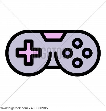 Gamepad Joystick Icon. Outline Gamepad Joystick Vector Icon For Web Design Isolated On White Backgro