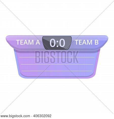 Scoreboard Icon. Cartoon Of Scoreboard Vector Icon For Web Design Isolated On White Background