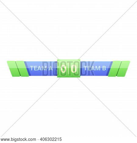 Display Scoreboard Icon. Cartoon Of Display Scoreboard Vector Icon For Web Design Isolated On White