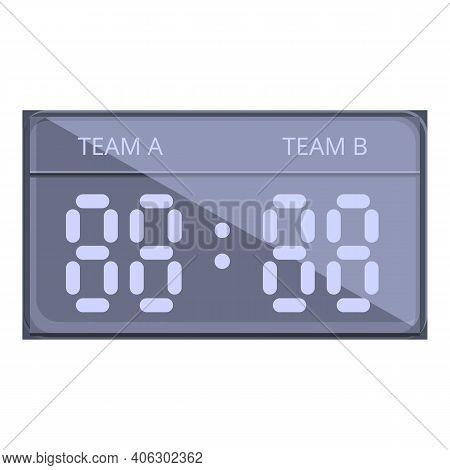 Clock Scoreboard Icon. Cartoon Of Clock Scoreboard Vector Icon For Web Design Isolated On White Back