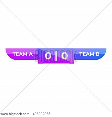 Object Scoreboard Icon. Cartoon Of Object Scoreboard Vector Icon For Web Design Isolated On White Ba