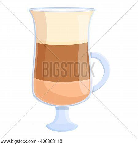 Latte Caffeine Icon. Cartoon Of Latte Caffeine Vector Icon For Web Design Isolated On White Backgrou