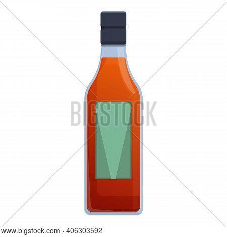 Bourbon Blended Bottle Icon. Cartoon Of Bourbon Blended Bottle Vector Icon For Web Design Isolated O