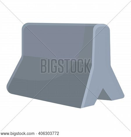 Highway Construction Barrier Icon. Cartoon Of Highway Construction Barrier Vector Icon For Web Desig