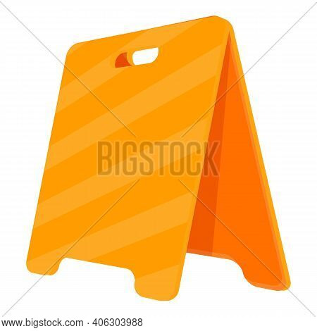 Attention Barrier Icon. Cartoon Of Attention Barrier Vector Icon For Web Design Isolated On White Ba