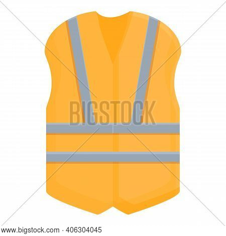 Highway Construction Vest Icon. Cartoon Of Highway Construction Vest Vector Icon For Web Design Isol