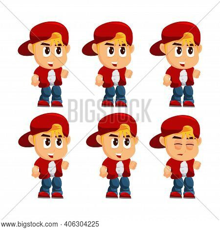 Boy Character With Hat Idle Game Kits Adventure Design Sprite