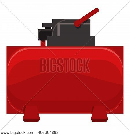 Painter Compressor Icon. Cartoon Of Painter Compressor Vector Icon For Web Design Isolated On White