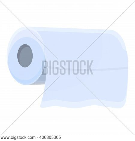 Tissue Roll Icon. Cartoon Of Tissue Roll Vector Icon For Web Design Isolated On White Background