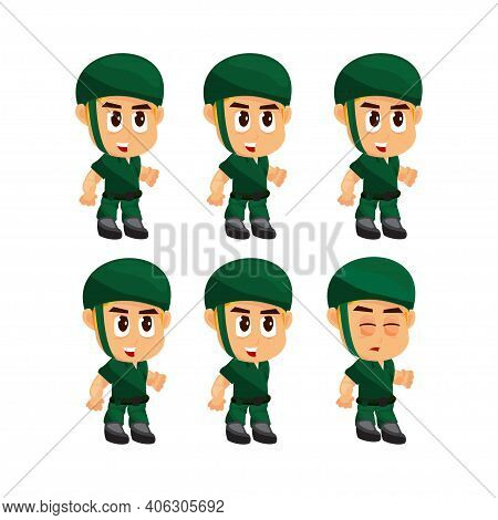 Soldier Idle Game Character For Creating Shooter Action Games