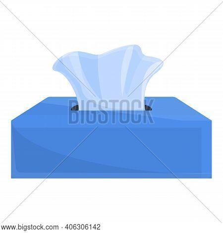 Car Tissue Box Icon. Cartoon Of Car Tissue Box Vector Icon For Web Design Isolated On White Backgrou