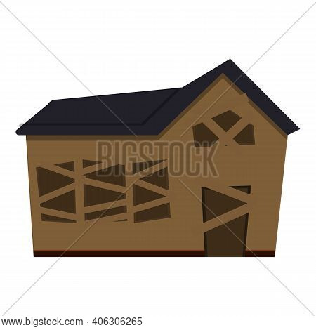 Building Creepy House Icon. Cartoon Of Building Creepy House Vector Icon For Web Design Isolated On