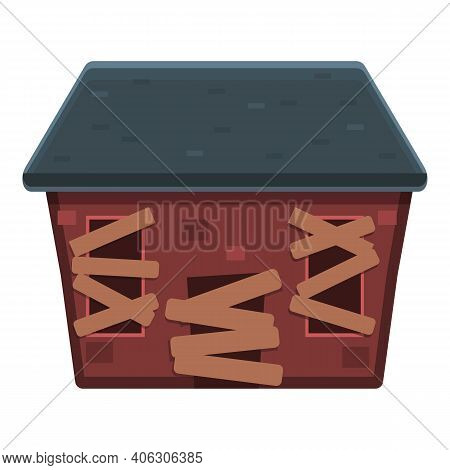 Party Creepy House Icon. Cartoon Of Party Creepy House Vector Icon For Web Design Isolated On White
