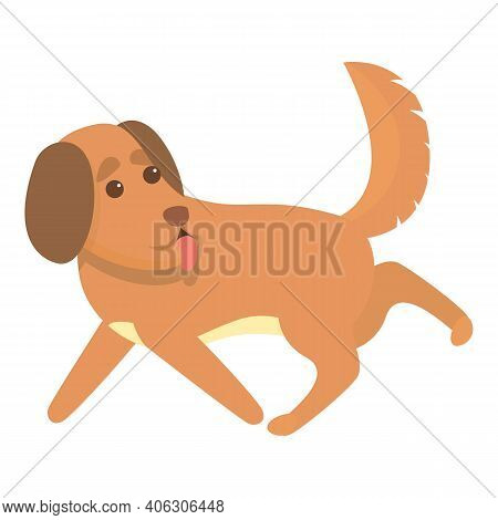 Playful Dog Icon. Cartoon Of Playful Dog Vector Icon For Web Design Isolated On White Background