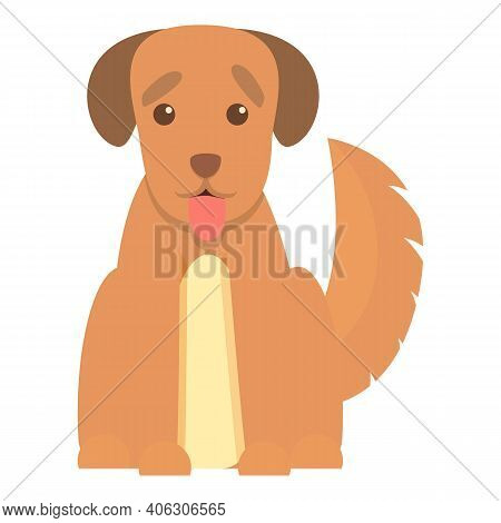 Playful Dog Happy Icon. Cartoon Of Playful Dog Happy Vector Icon For Web Design Isolated On White Ba