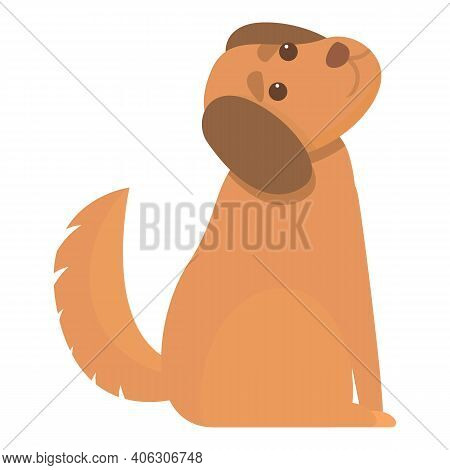 Playful Dog Action Icon. Cartoon Of Playful Dog Action Vector Icon For Web Design Isolated On White