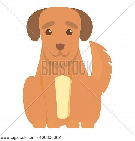 Playful Dog Mammal Icon. Cartoon Of Playful Dog Mammal Vector Icon For Web Design Isolated On White