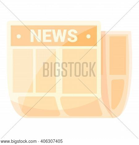 Stack Newspaper Icon. Cartoon Of Stack Newspaper Vector Icon For Web Design Isolated On White Backgr