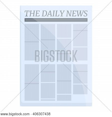 Bundle Newspaper Icon. Cartoon Of Bundle Newspaper Vector Icon For Web Design Isolated On White Back