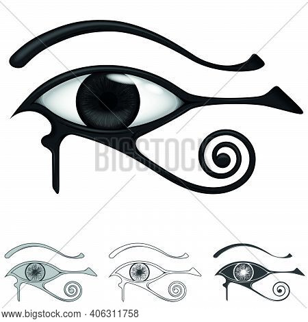 Eye Of Horus, Symbol And Amulet Of Protection Originating In Ancient Egyptian, Symbol Comes From The