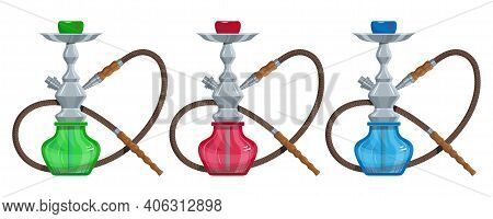 Hookah Vector Image. Relaxing Smoking. Hookah Logo Design, Label, Badge. Relaxation. Logo For Printi