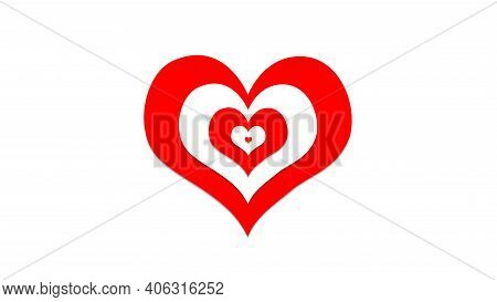Beautiful Red And White Hearts Combination, Sign And Symbol Of Love , Show Your Love For Valentine's