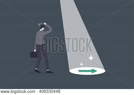 Business Support Or Mentor Help Discover Right Direction, Leadership To See Business Vision Or Caree