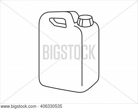 Canister Icon. Vector Icon Of Oil Canister. Gasoline Icon Vector.