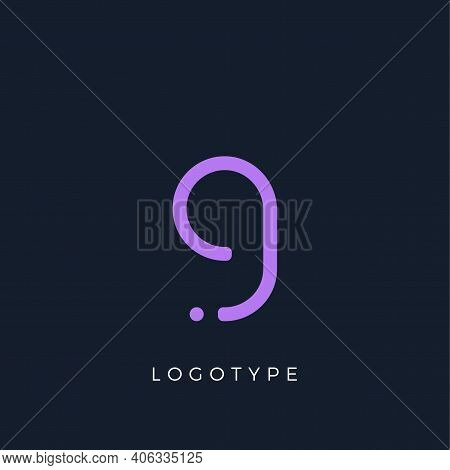 Minimalist Letter G With Dots, Awesome Monogram. Lowercase Letter For Modern And Creative Logo Conce