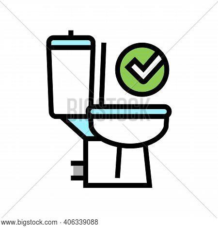 Good Bowel Movement, Restroom Toilet Color Icon Vector. Good Bowel Movement, Restroom Toilet Sign. I