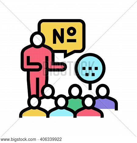 Players Playing In Lotto Color Icon Vector. Players Playing In Lotto Sign. Isolated Symbol Illustrat