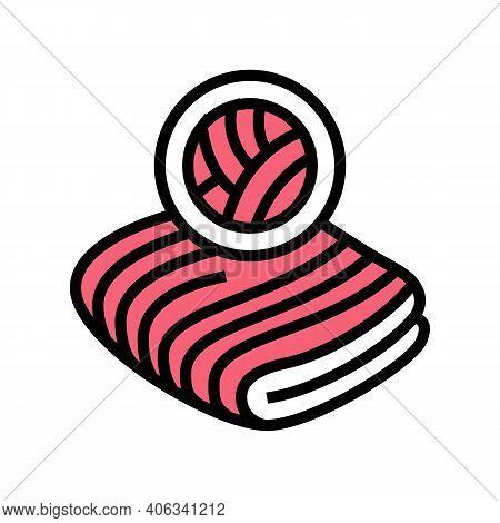 Velvet Fabric Color Icon Vector. Velvet Fabric Sign. Isolated Symbol Illustration