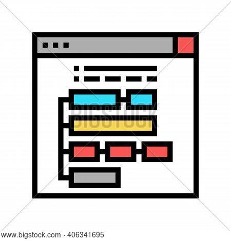 Program Hierarchy Color Icon Vector. Program Hierarchy Sign. Isolated Symbol Illustration