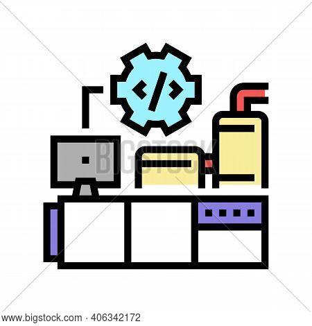 Industrial Equipment Debugging Color Icon Vector. Industrial Equipment Debugging Sign. Isolated Symb