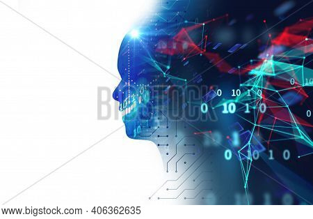 Abstract Technology. Futuristic Technology Background And Hi-tech Computer Technology Background. Ci