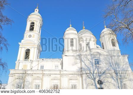 Russia, Saint-petersburg. Vladimirsky Cathedral On A Sunny Winter Day