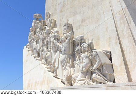 Monument Of The Discoveries (padrão Dos Descobrimentos) In The Tagus River Bank, Belem, Lisbon, Port