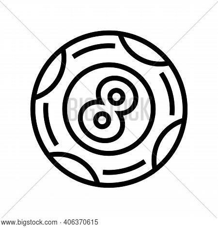 Ball Lotto Line Icon Vector. Ball Lotto Sign. Isolated Contour Symbol Black Illustration