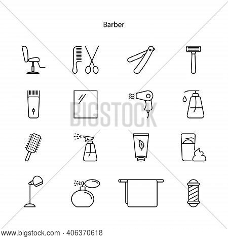 Barber Icon Isolated On White Background. Barber Icon Trendy And Modern Barber Symbol For Logo, Web,
