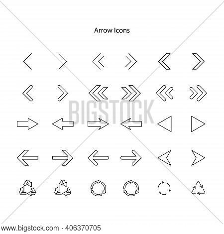 Arrow Icon Isolated On White Background. Arrow Icon Trendy And Modern, Arrow Symbol For Logo, Web, A