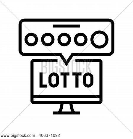Tv Lotto Line Icon Vector. Tv Lotto Sign. Isolated Contour Symbol Black Illustration